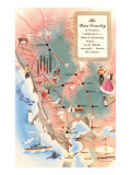Map of Wine Country Posters