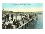 Fisherman's Paradise, Pier at Redondo Beach, California Prints