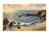 Wood's Cove, Laguna Beach, California Premium Giclee Print