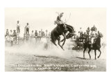 Rodeo Bronco Buster, Cheyenne, Wyoming Prints