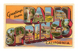 Greetings from Palm Springs, California Print