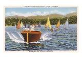 Boats on Lake Arrowhead, California Prints