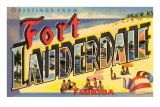 Greetings from Ft. Lauderdale, Florida Prints