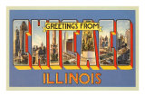 Greetings from Chicago. Illinois Prints