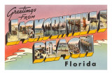 Greetings from Jacksonville Beach, Florida Print