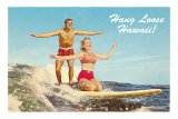 Hang Loose Hawaii, Surfers Print