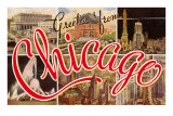 Greetings from Chicago, Illinois Posters