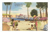 Beach, Pier, St. Petersburg, Florida Posters