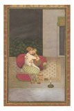 Persian Miniature Lovers on Rug Prints
