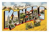 Greetings from Kansas Prints