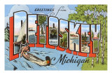 Souvenir de Petoskey, Michigan Affiches