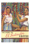 El Salvador Coffee, Pickers Art Print