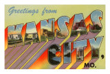 Greetings from Kansas City, Missouri Kunstdrucke