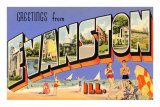 Greetings from Evanston, Illinois Prints