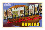 Greetings from Lawrence, Kansas Posters