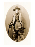 Cowgirl with Fur Chaps Poster