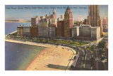 Oak Street Beach, Chicago, Illinois Posters