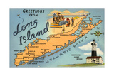 Greetings from Long Island, New York, Map Posters
