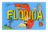 Greetings from Florida, Map Prints