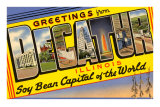 Greetings from Decatur, Illinois Posters