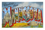 Greetings from Minnesota Art Print
