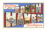 Souvenir de South Haven, Michigan Affiches