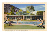 Hotel Swimming Pool, Palm Springs, California Prints