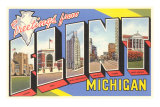Souvenirs de Flint, Michigan Poster