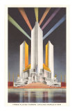 Three Fluted Towers, Chicago World&#39;s Fair Photo