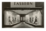 Fashion, Manikins in Windows Poster
