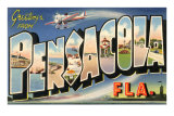 Greetings from Pensacola, Florida Poster
