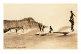 Surf Riding, Hawaii, Photo Kunstdruck