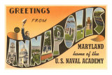 Greetings from Annapolis, Maryland Prints