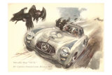 Mercedes Sportscar with Vultures Posters