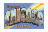 Greetings from Chicago, Illinois Print