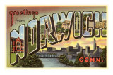 Greetings from Norwich, Connecticut Print