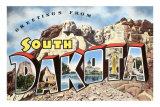 Greetings from South Dakota Art Print