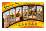 Greetings from Topeka, Kansas Poster