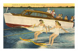 Water Skiers, Daytona Beach, Florida Poster