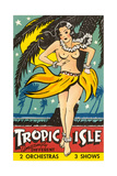 Tropical Girl Pin Up Pster