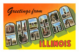 Greetings from Aurora, Illinois Posters
