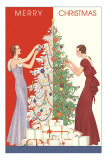 Deco Merry Christmas with Tree and Presents Posters