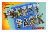 Greetings from Forest Park, Illinois Posters