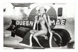 Nose Art, Queen Mae, Pin-Up Photo