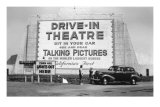 Drive-In Theatre, Los Angeles, California Poster