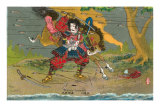 Japanese Samurai, Kikuchi Temitsu Posters
