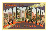 Greetings from Hollywood, California Print