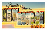 Greetings from New London, Connecticut Poster