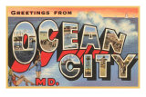 Greetings from Ocean City, Maryland Posters