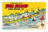 Souvenirs de Fire Island, Long Island, New York Posters